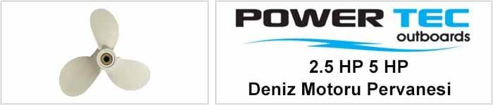 powertec 2,5 hp 5 hp deniz motoru pervanesi
